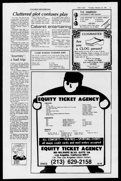 Daily Trojan, Vol. 90, No. 11, February 19, 1981