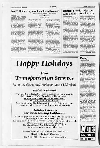 Daily Trojan, Vol. 141, No. 65, December 05, 2000