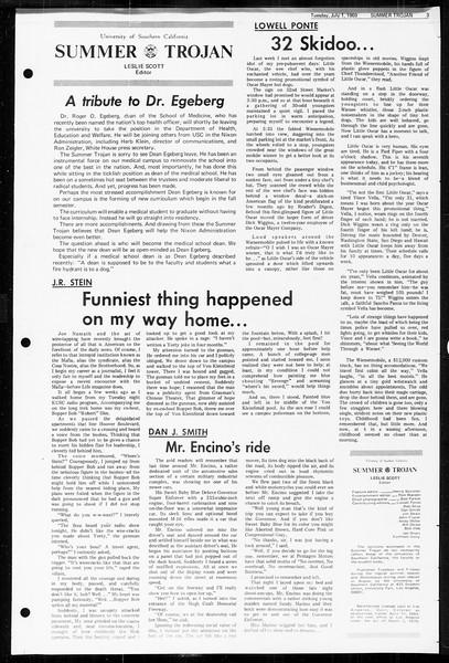 Summer Trojan, Vol. 60, No. 5, July 01, 1969