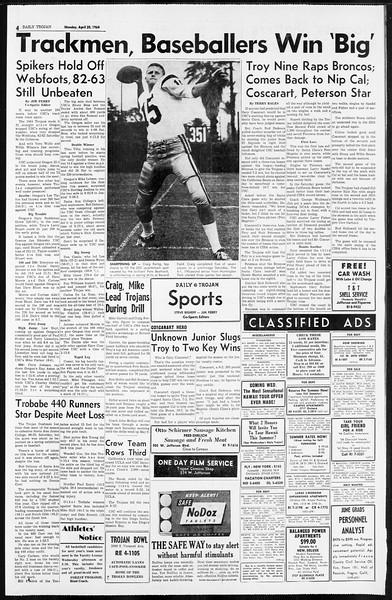 Daily Trojan, Vol. 55, No. 101, April 20, 1964