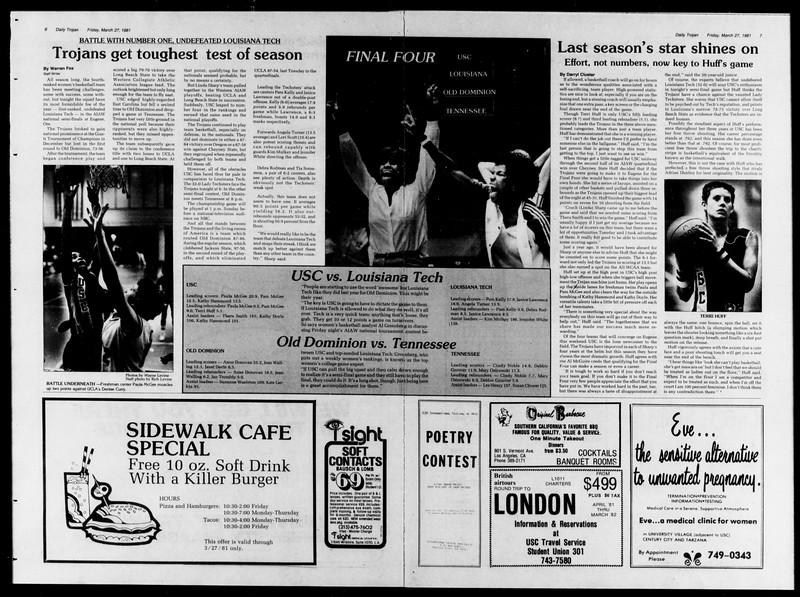 Daily Trojan, Vol. 90, No. 35, March 27, 1981