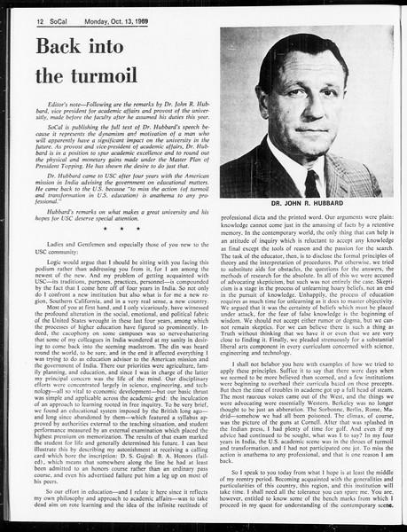 SoCal, Vol. 61, No. 21, October 13, 1969