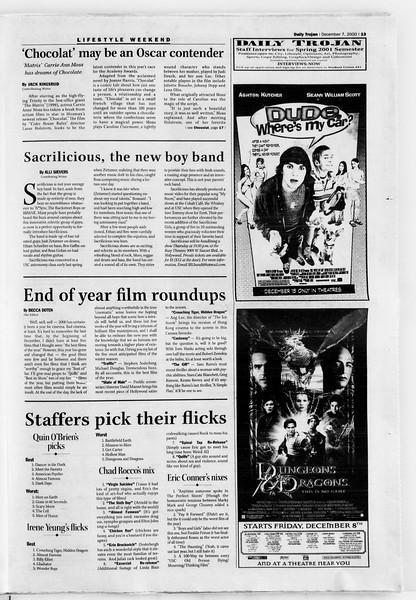 Daily Trojan, Vol. 141, No. 67, December 07, 2000