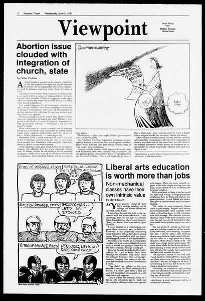 Summer Trojan, Vol. 115, No. 4, June 05, 1991