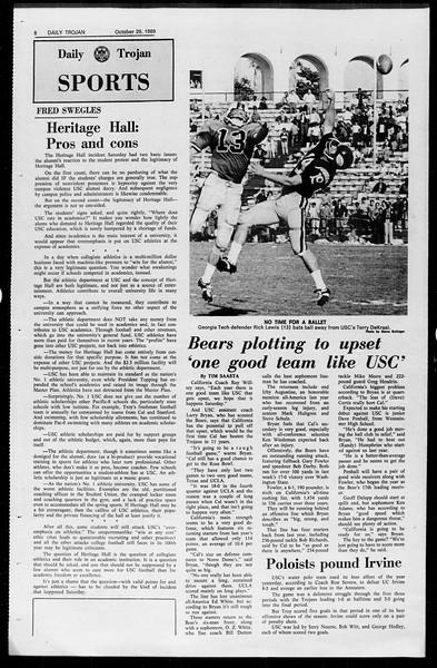 Daily Trojan, Vol. 61, No. 33, October 29, 1969