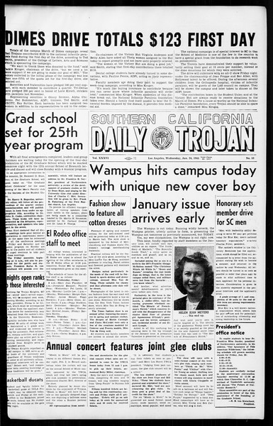 Daily Trojan, Vol. 36, No. 53, January 24, 1945