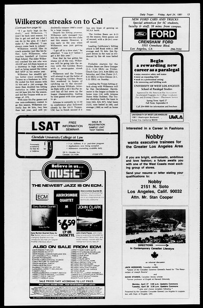 Daily Trojan, Vol. 90, No. 48, April 24, 1981