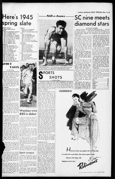 Daily Trojan, Vol. 36, No. 75, March 09, 1945