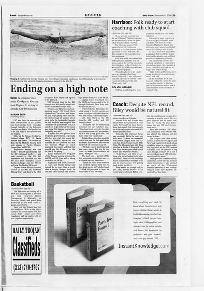 Daily Trojan, Vol. 141, No. 65, December 05, 2000