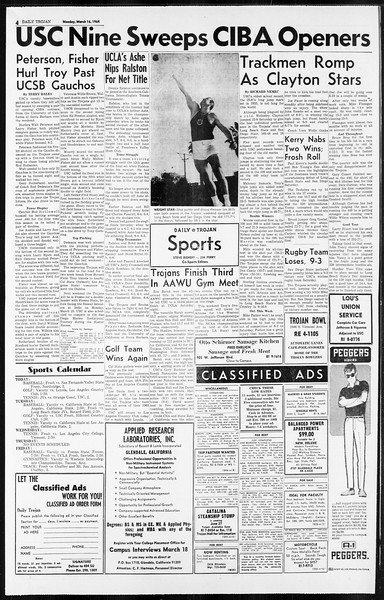 Daily Trojan, Vol. 55, No. 83, March 16, 1964