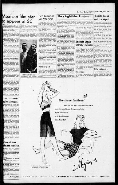 Daily Trojan, Vol. 36, No. 79, March 15, 1945