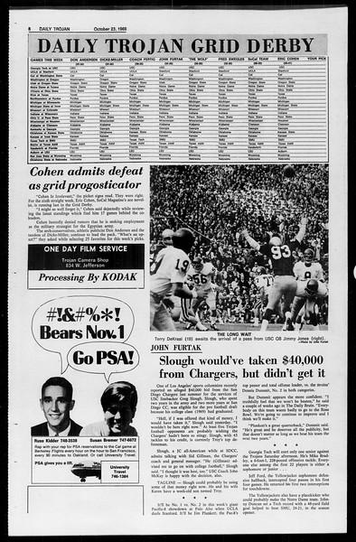 Daily Trojan, Vol. 61, No. 29, October 23, 1969