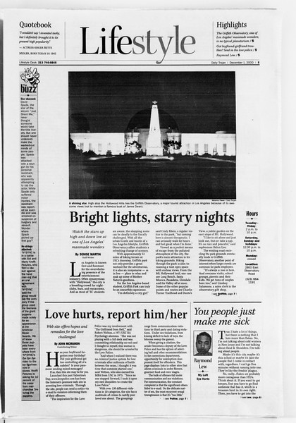Daily Trojan, Vol. 141, No. 63, December 01, 2000