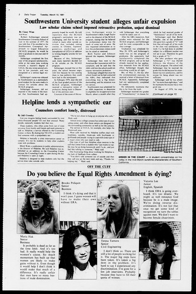 Daily Trojan, Vol. 90, No. 23, March 10, 1981