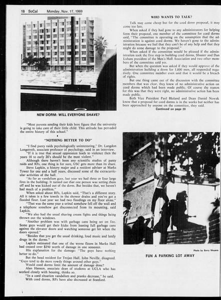 SoCal, Vol. 61, No. 45, November 17, 1969