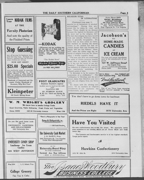 The Daily Southern Californian, Vol. 10, No. 50, May 20, 1913