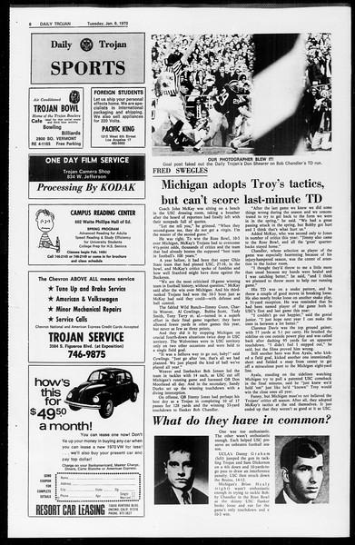 Daily Trojan, Vol. 61, No. 62, January 06, 1970