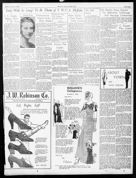 Daily Trojan, Vol. 26, No. 11, October 05, 1934