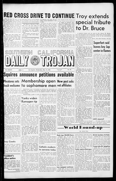 Daily Trojan, Vol. 36, No. 78, March 14, 1945