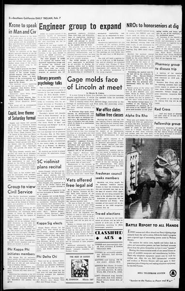 Daily Trojan, Vol. 36, No. 63, February 07, 1945
