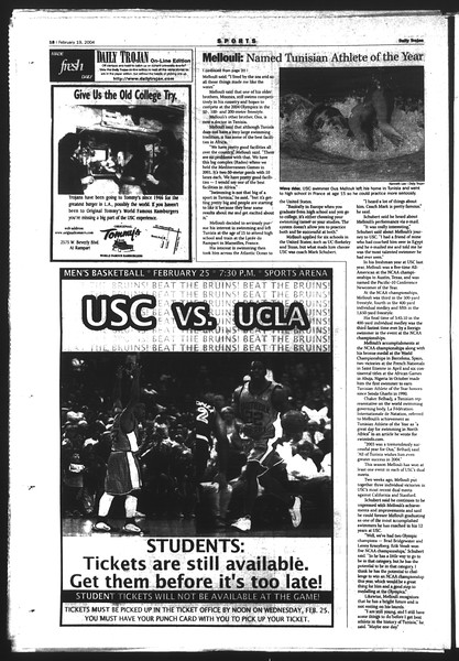 Daily Trojan, Vol. 151, No. 24, February 19, 2004