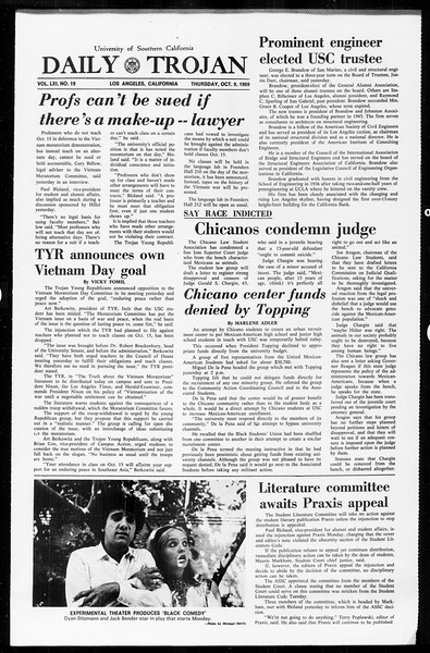 Daily Trojan, Vol. 61, No. 19, October 09, 1969