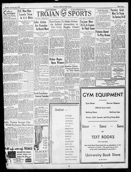 Daily Trojan, Vol. 26, No. 83, February 26, 1935