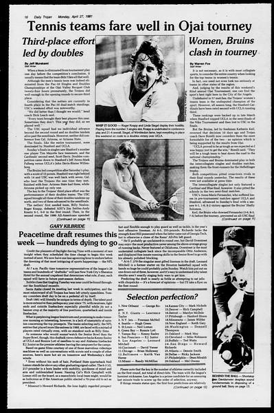 Daily Trojan, Vol. 90, No. 49, April 27, 1981