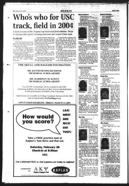 Daily Trojan, Vol. 151, No. 27, February 24, 2004
