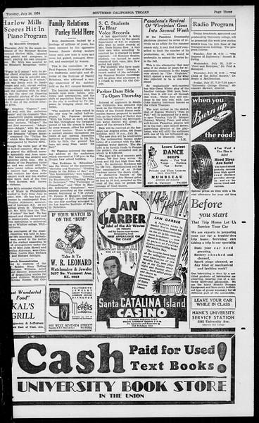 Southern California Trojan, Vol. 13, No. 11, July 24, 1934