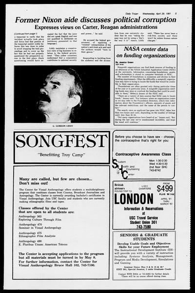Daily Trojan, Vol. 90, No. 51, April 29, 1981
