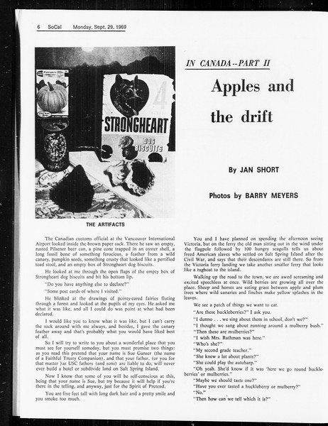 SoCal, Vol. 61, No. 11, September 29, 1969