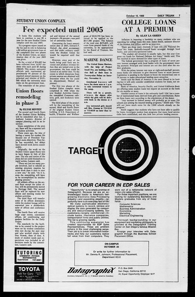 Daily Trojan, Vol. 61, No. 24, October 16, 1969