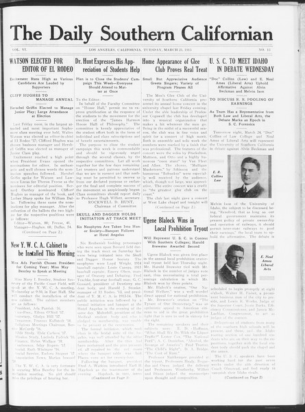 The Daily Southern Californian, Vol. 6, No. 13, March 23, 1915