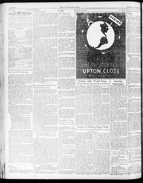 Daily Trojan, Vol. 25, No. 122, April 26, 1934