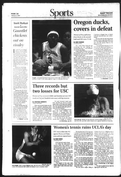 Daily Trojan, Vol. 151, No. 13, February 02, 2004