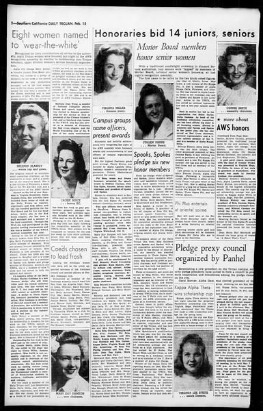 Daily Trojan, Vol. 36, No. 69, February 15, 1945