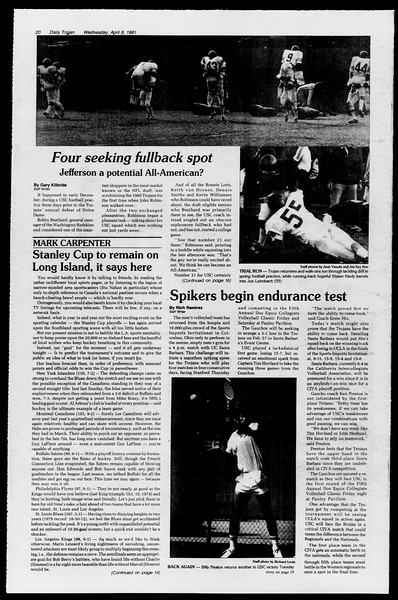 Daily Trojan, Vol. 90, No. 43, April 08, 1981