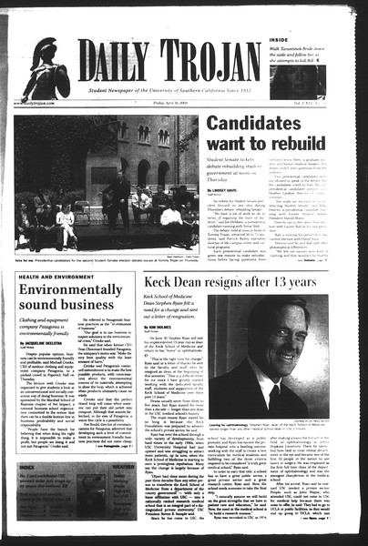 Daily Trojan, Vol. 151, No. 57, April 15, 2004