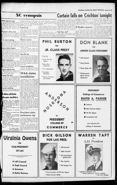 Daily Trojan, Vol. 36, No. 137, June 05, 1945