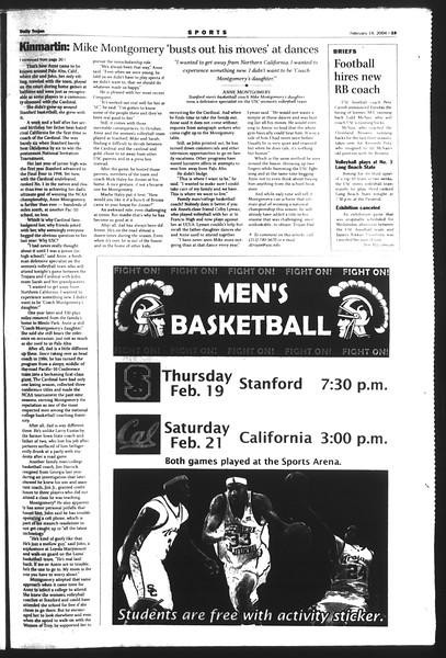 Daily Trojan, Vol. 151, No. 24, February 19, 2004
