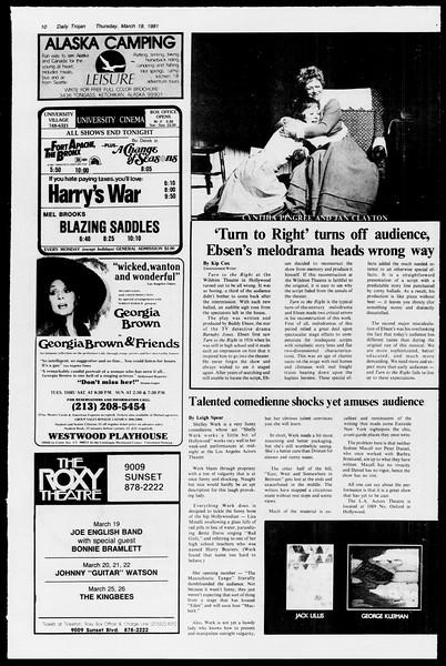 Daily Trojan, Vol. 90, No. 30, March 19, 1981