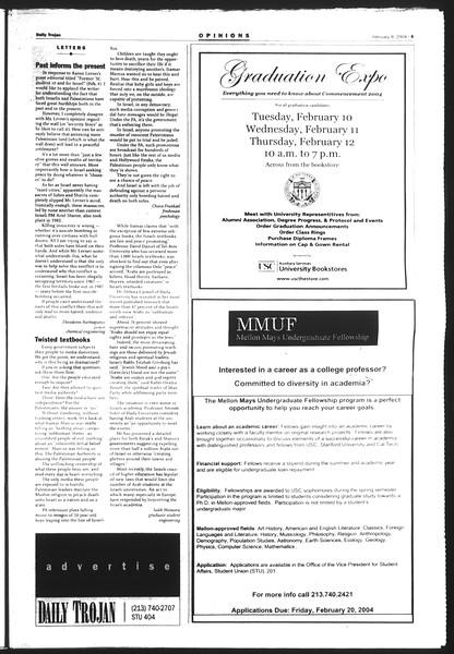 Daily Trojan, Vol. 151, No. 18, February 09, 2004