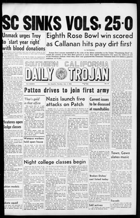 Daily Trojan, Vol. 36, No. 37, January 02, 1945