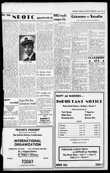 Daily Trojan, Vol. 36, No. 142, June 12, 1945