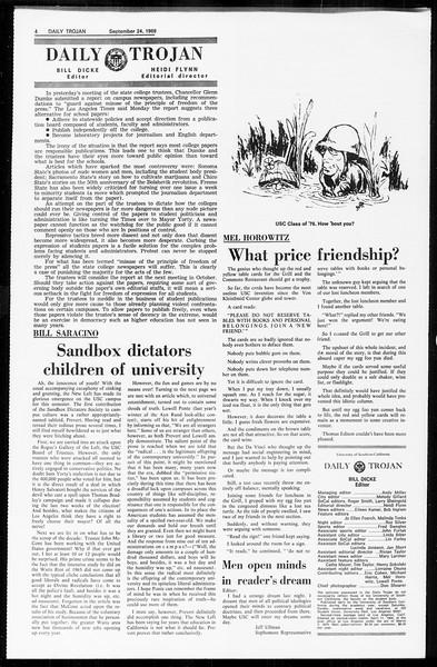 Daily Trojan, Vol. 61, No. 8, September 24, 1969