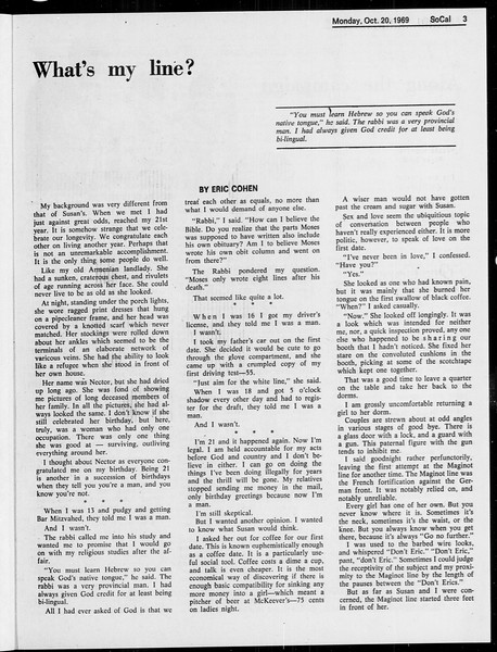 SoCal, Vol. 61, No. 26, October 20, 1969