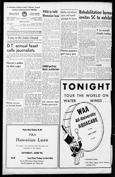 Daily Trojan, Vol. 36, No. 140, June 08, 1945