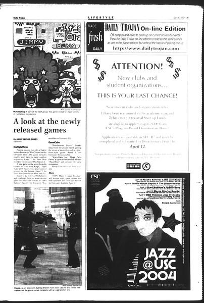 Daily Trojan, Vol. 151, No. 50, April 06, 2004