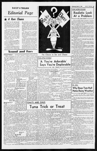 Daily Trojan, Vol. 55, No. 80, March 11, 1964